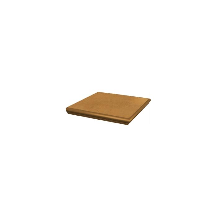 Текстура плитки Aquarius Brown Stopnica Narozna z kapinosem 33x33