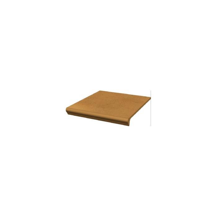 Текстура плитки Aquarius Brown Stopnica Prosta z kapinosem 30x33