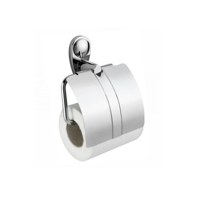 Фото сантехники Main Держатель для туалетной бумаги с крышкой (блистер), хром