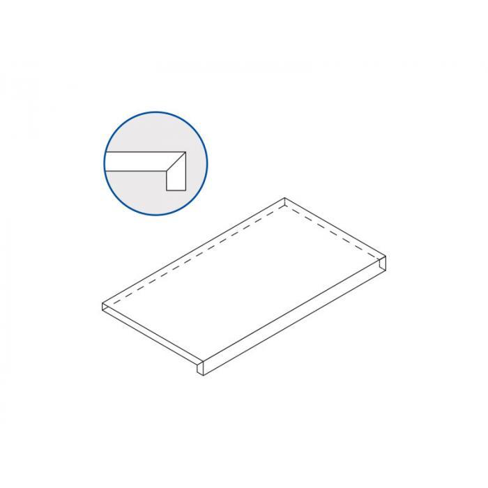 Текстура плитки Карбон X2 Ступень Фронтальная 33x60
