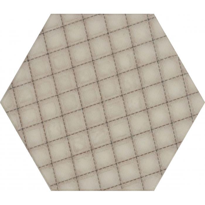 Текстура плитки Esagon Linum Beige Inserto A 17.1x19.8