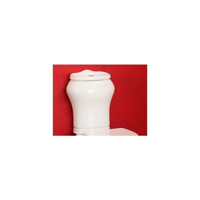 Фото сантехники MILADY Бачок моноблока, с отв.для кнопки слива, белая керамика, без декора