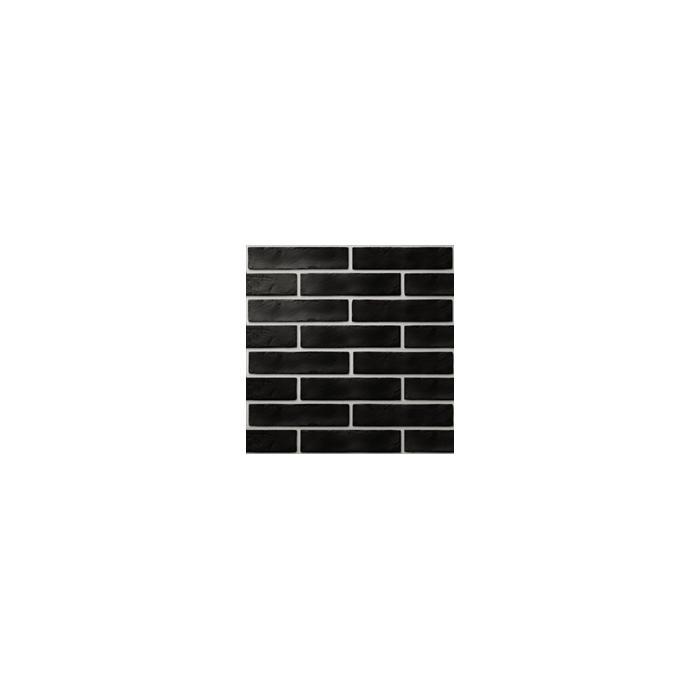 Текстура плитки The Strand Черный 6х25