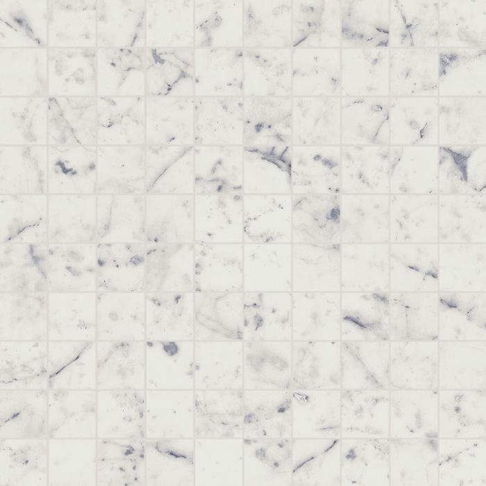 Текстура плитки Шарм Экстра Каррара Мозаика 30.5x30.5