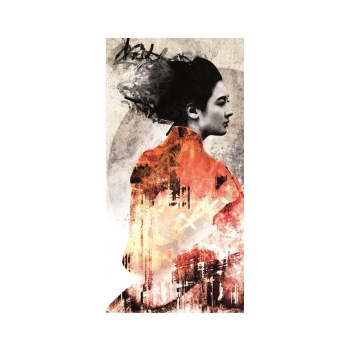 Изображение Панно Персональное Колотое Гейша 1x1, размер 1,2x2,4