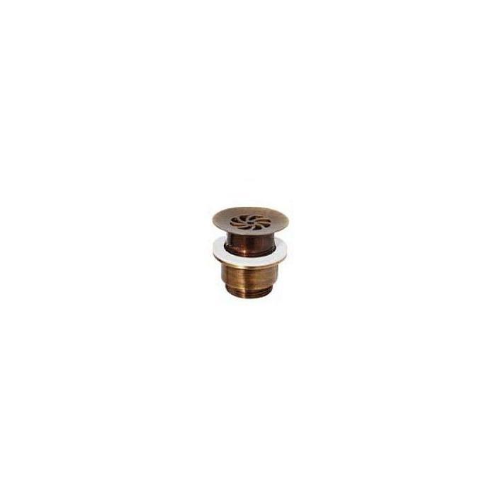 Фото сантехники RICAMBI DAISY Слив для раковины d-63 mm  11/2  без перелива  с решткой, цвет бронза