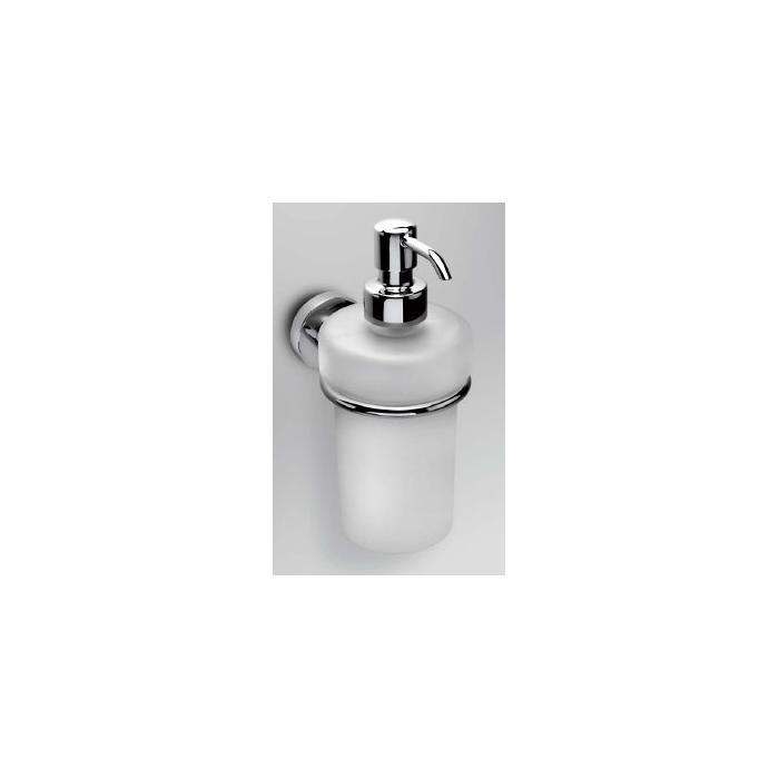 Фото сантехники Basic Дозатор для жидкого мыла настенный, хром/стекло