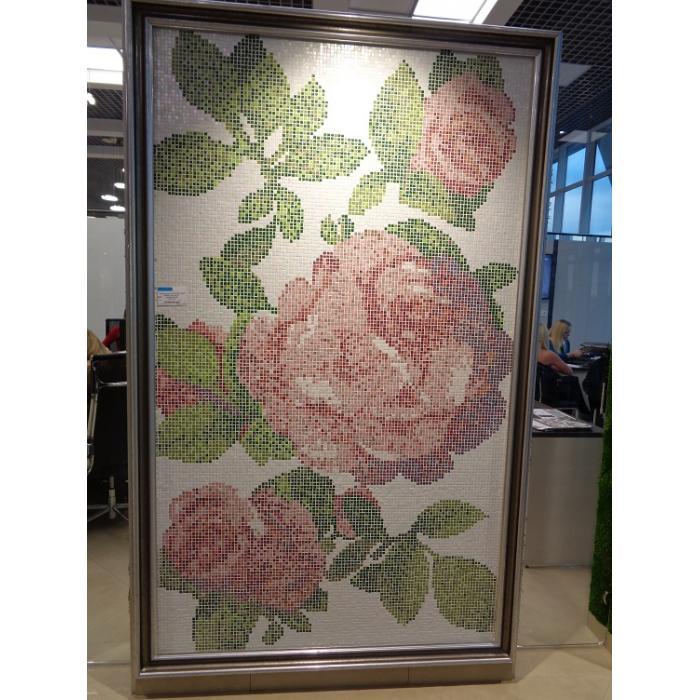 Изображение Панно Персональное колотое Розы Bisazza , фон 760 1x1, размер1,28x2,26
