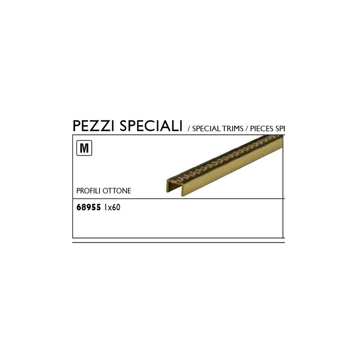 Текстура плитки Gold Profilo Met. Greca Ottone 1x60 - 2