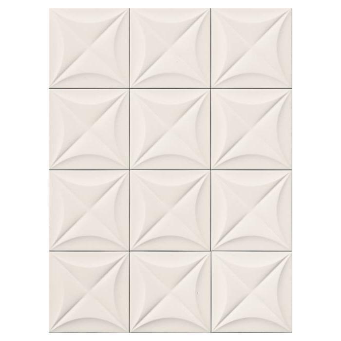 Текстура плитки 4D Flower White 20x20