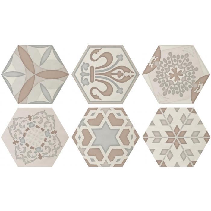 Текстура плитки Decor Vodevil Ivory 17.5x17.5