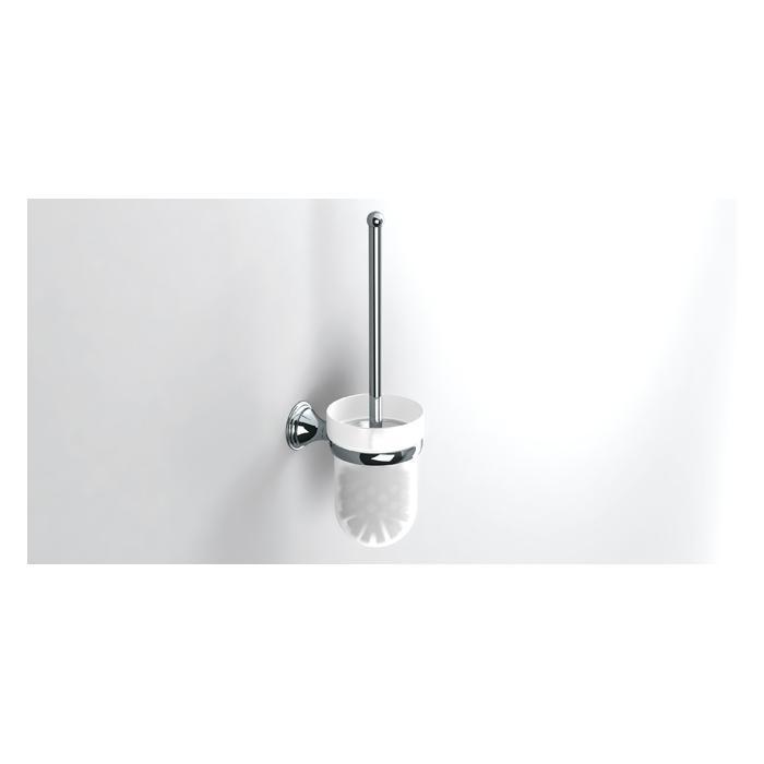 Фото сантехники Genoa Туалетный ерш настенный, стекло/хром