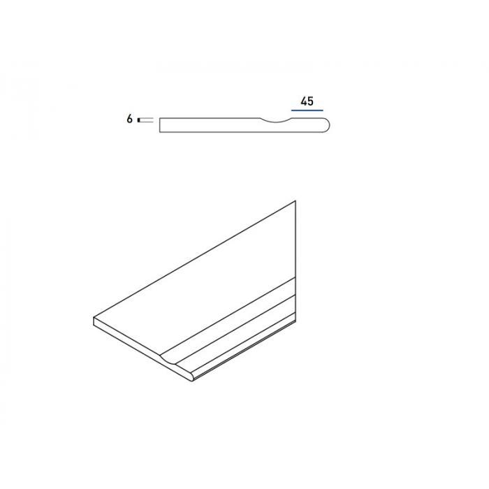 Текстура плитки Пур Бортик с Выемкой Закругленный Правый 30x60