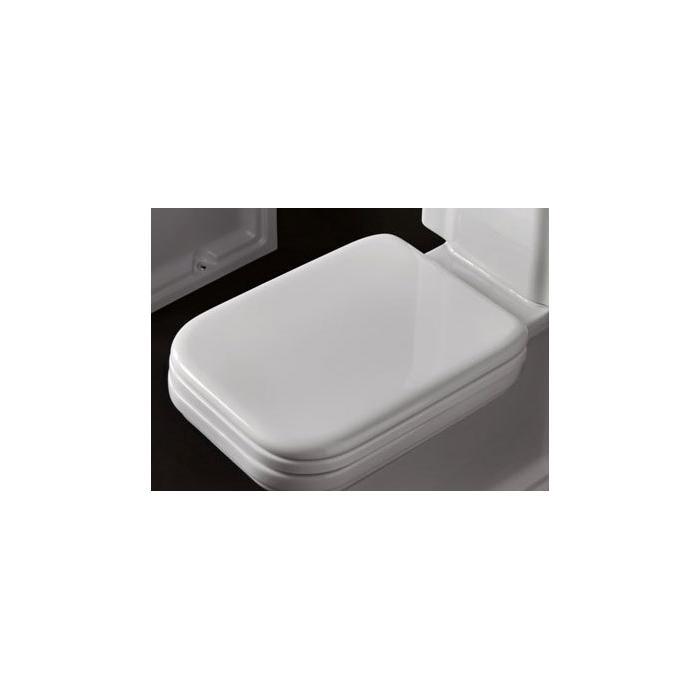 Фото сантехники Waldorf Сиденье для унитаза с плавным опусканием, цвет белый/хром - 2