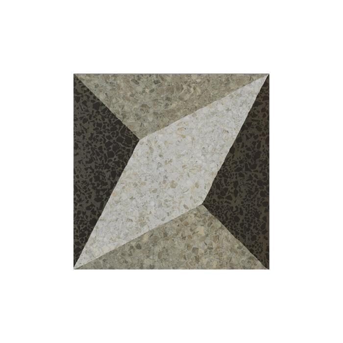 Текстура плитки Accademia Dec. Rombo Bianco/Grigio/Nero 47.8x47.8