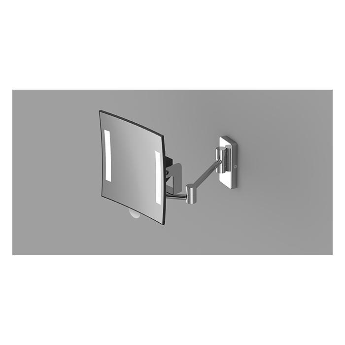 Фото сантехники Зеркало косметическое с подсветкой и увеличением 3Х, хром