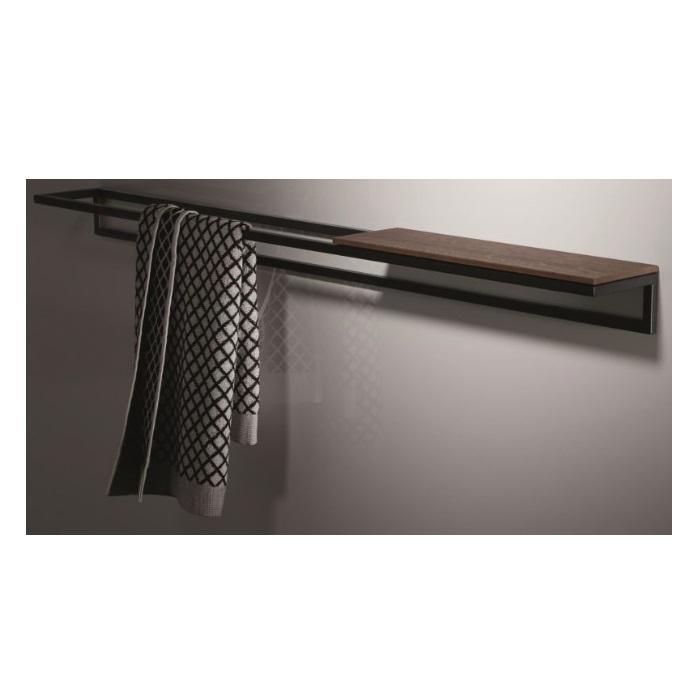 Фото сантехники BetteLux Shape Полотенцедержатель 800х120хh70мм, цвет черный