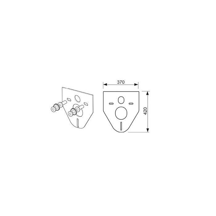 Фото сантехники Прокладка звукоизолирующая для монтажа подвесного унитаза/биде