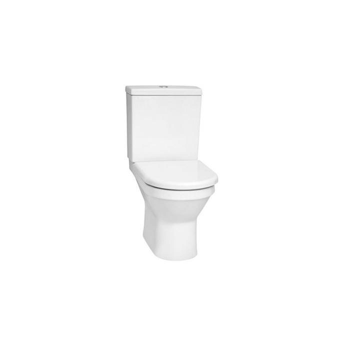 Фото сантехники S50 Унитаз напольныйс бидеткой, бачок с механизмом и сиденьем с микролифтом, цвет белый - 2