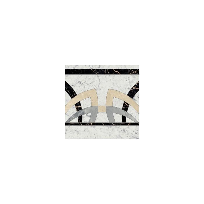 Текстура плитки Шарм Экстра Каррара Розон Фашиа Люкс.Ретт 59х59