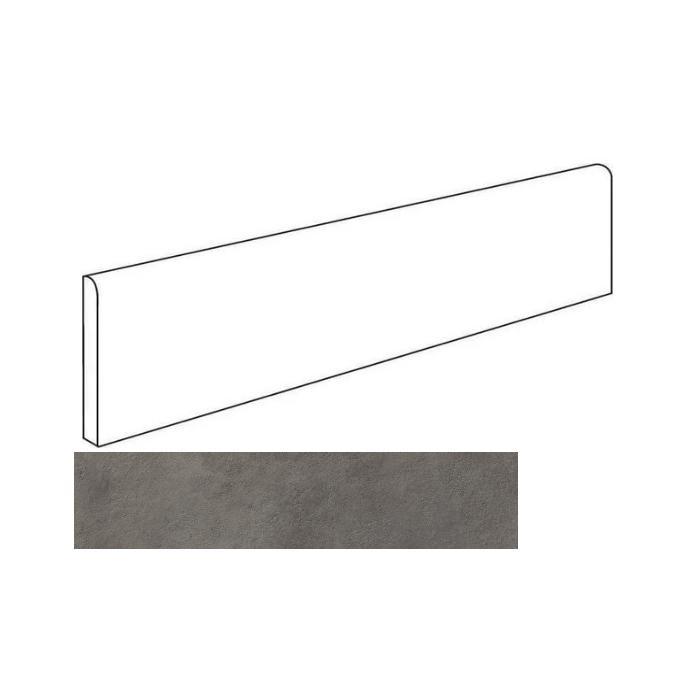 Текстура плитки Миллениум Блэк 7.2X60 Плинтус