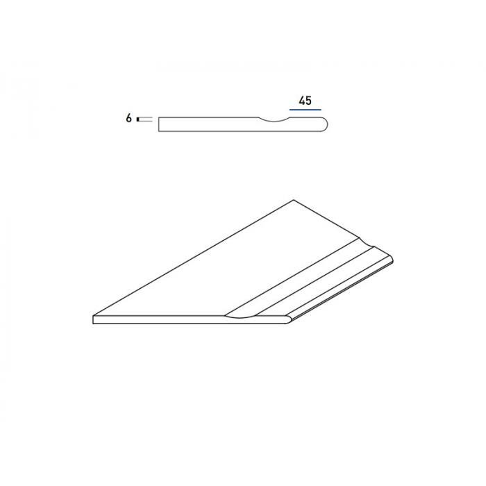 Текстура плитки Пур Бортик с Выемкой Закругленный Левый 30x60