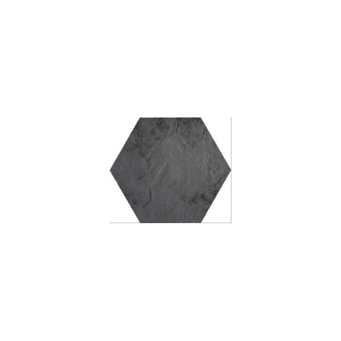 Текстура плитки Semir Grafit Heksagon 26x26