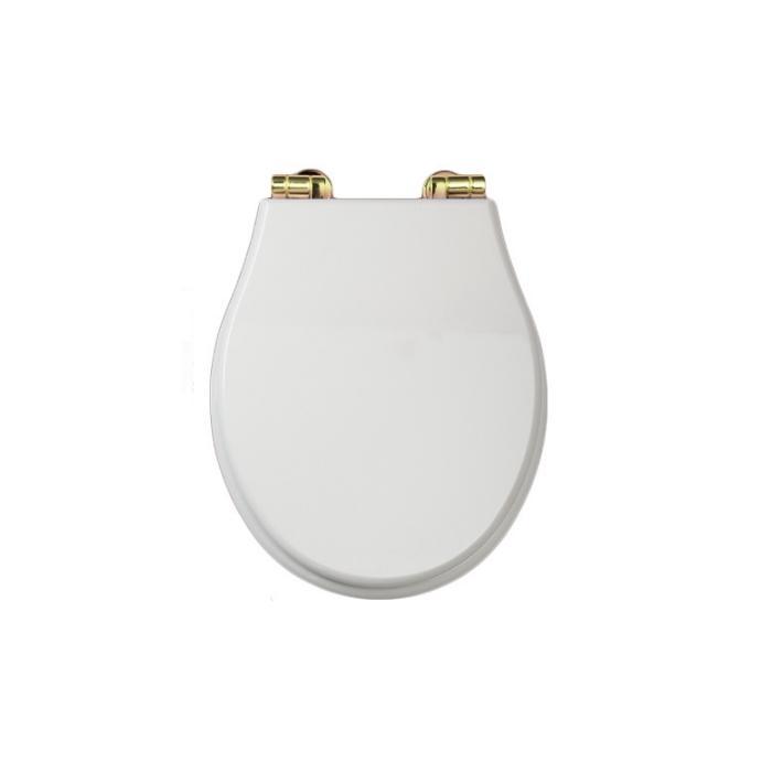 Фото сантехники Gianeta Крышка/сиденье унитаза с системой микролифт, цвет белый/золото