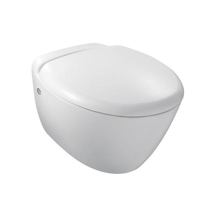 Фото сантехники Preasquile Унитаз подвесной 55,5х38 см, с сиденьем микролифт, цвет белый