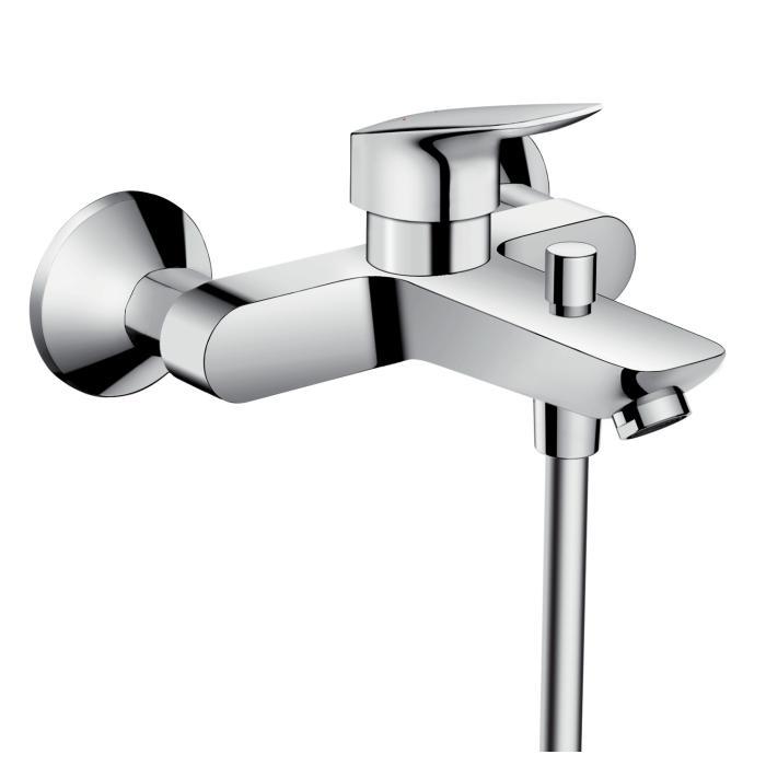 Фото сантехники Смеситель для ванны, цвет хром - 2
