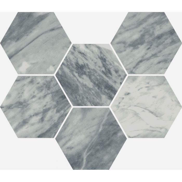 Текстура плитки Шарм Экстра Атлантик Мозаика Гексагон Пат. 25x29 (0,050м2/шт)