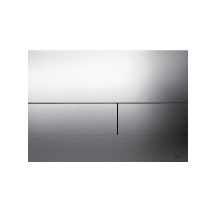 Фото сантехники Tecesquare Панель смыва с 2-мя клавишами, шлифованная нержавеющая сталь+монт.рам