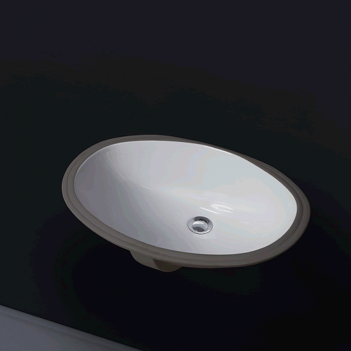 Фото сантехники Раковина встраиваемая снизу, 60х43 см, белая керамика - 2
