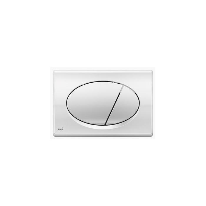 Фото сантехники Кнопка управления, двойной смыв, хром глянцевый