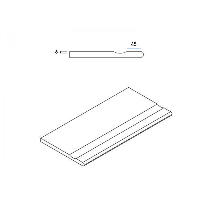 Текстура плитки Пур Бортик с Выемкой Закругленный  30x60