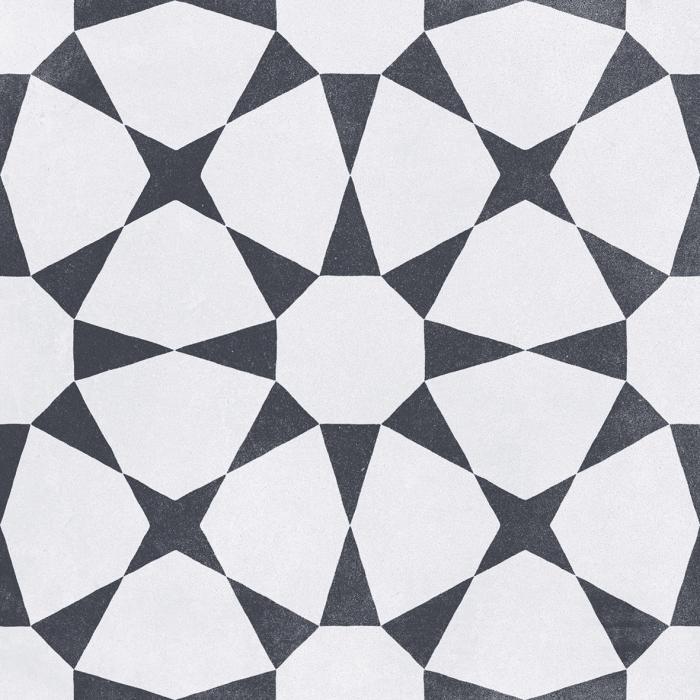 Текстура плитки Cuban White Star 22.3x22.3