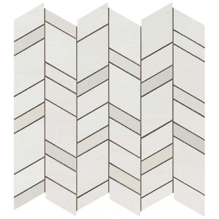 Текстура плитки Mek Light Mosaico Chevron Wall 30,5x30,5