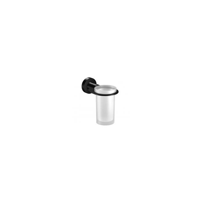 Фото сантехники Tecno Project Black Стакан настенный, стекло/черный