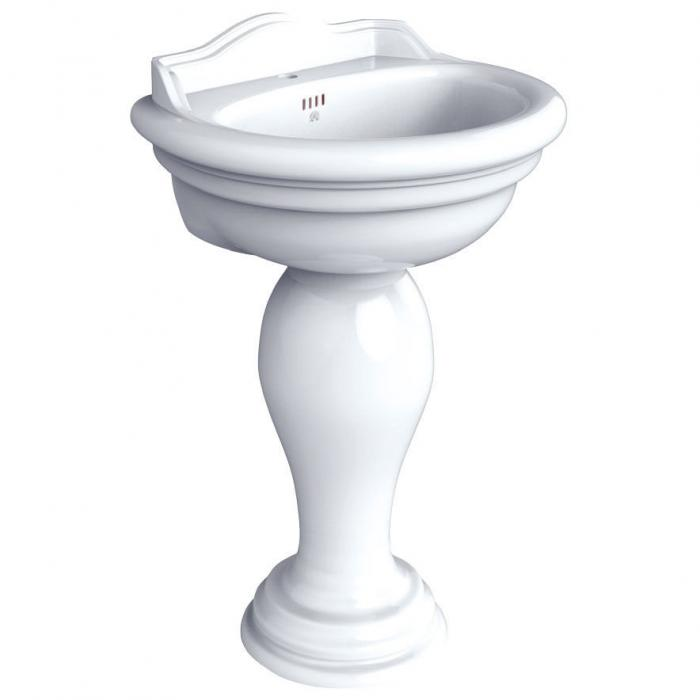 Фото сантехники MILADY Пьедестал для раковины, белая керамика, без декора - 2