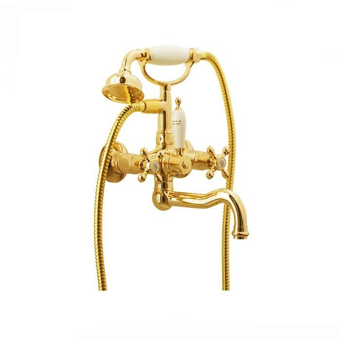 Фото сантехники Arcadia Смеситель для ванны внешний, цвет золото