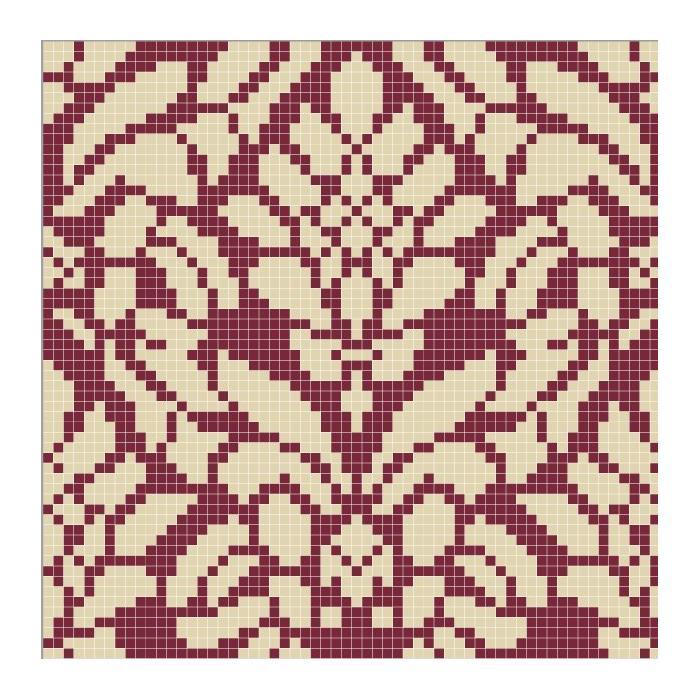 Изображение Панно персональное Damask, фон 760, узор 780 1x1, размер 2,21x2,9 - 2