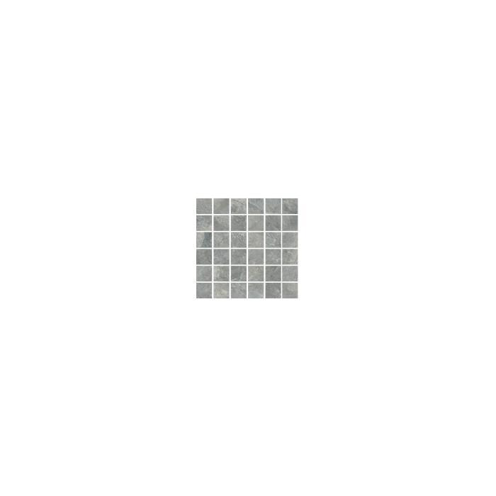 Текстура плитки NuSlate Mosaico Silver Nat (4,8x4,8) 30,2x30,2
