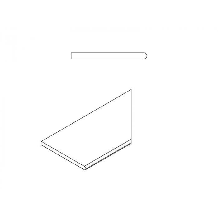 Текстура плитки Пур Бортик Закругленный Правый 30x60
