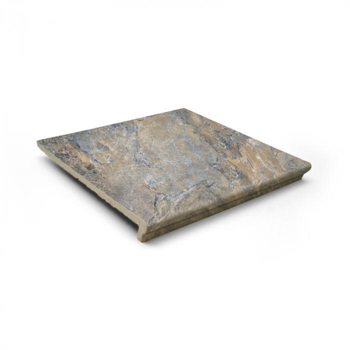 Текстура плитки Sea Rock Peldano Florentino Gris Oscuro 31.6x33