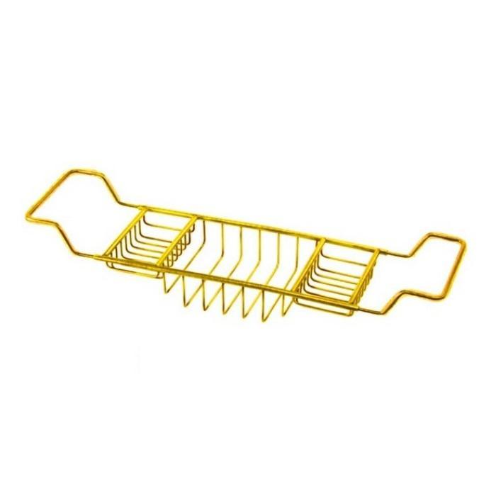 Фото сантехники Полка-решетка на ванну L66-105см, цвет золото