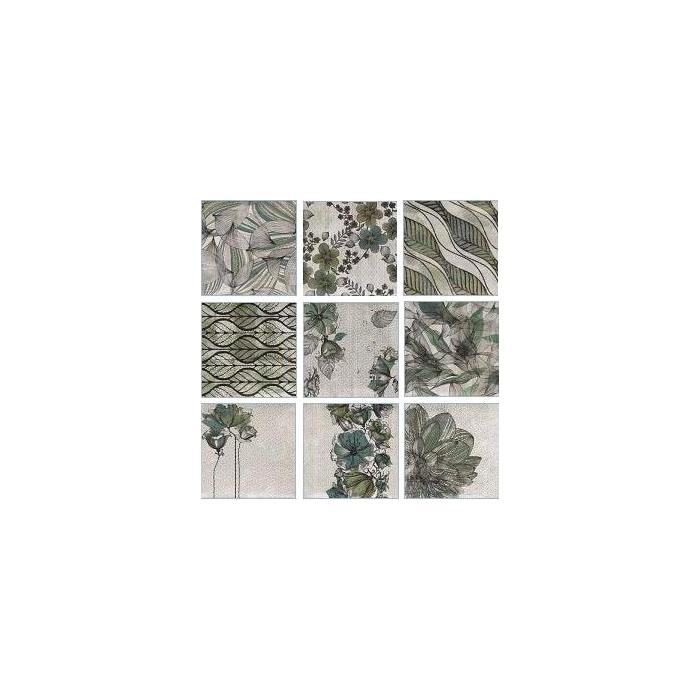 Текстура плитки Decor Zen Verde 20x20