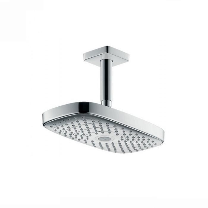 Фото сантехники Raindance Select E300 2jet Верхний душ с потолочным держателем, цвет белый/хром