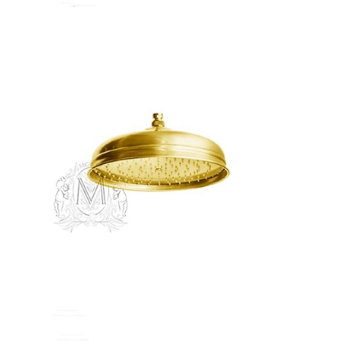 Фото сантехники Roma лейка душевая D300 золото антикальцевая