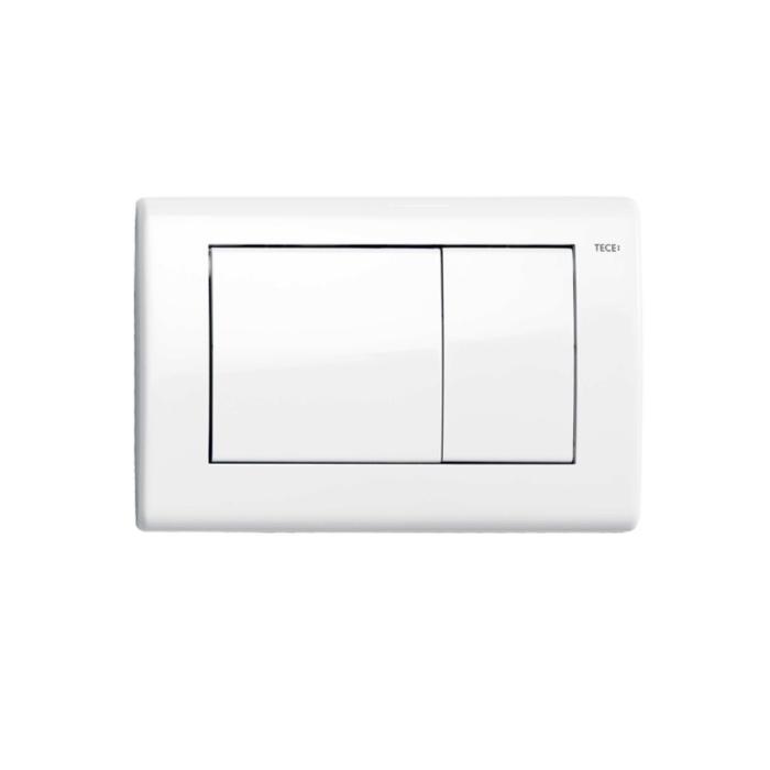 Фото сантехники Teceplanus Панель смыва с 2-мя клавишами, белый глянцевый