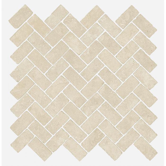 Текстура плитки Дженезис Мун Уайт Мозаика Кросс Нат. 29,7x31,5 (0,078м2/шт)